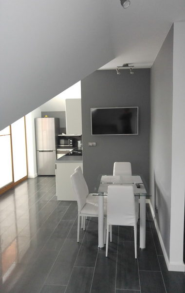 Apartamenty Homole. Apartament B5. Salon + aneks kuchenny.